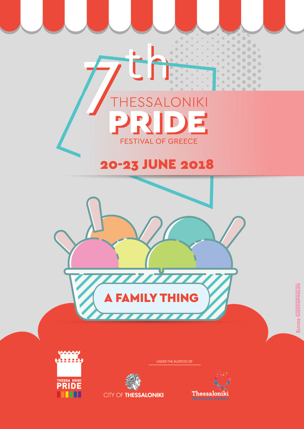 """7th thessaloniki Pride poster """"A Family Thing"""""""