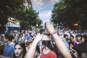 Thessaloniki Pride parade photo crowd